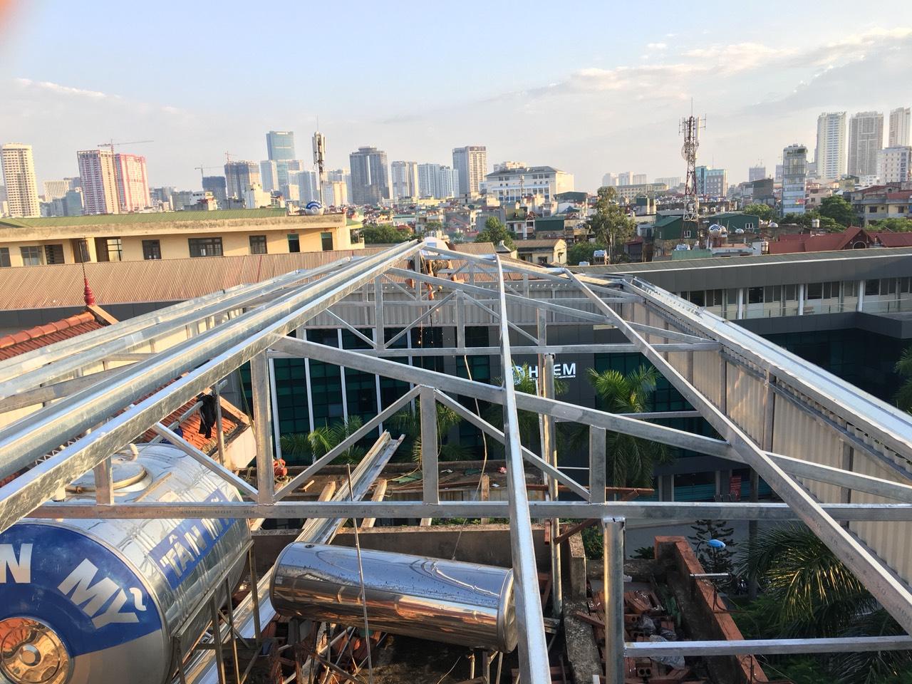 Quy trình thi công mái tôn nhà xưởng