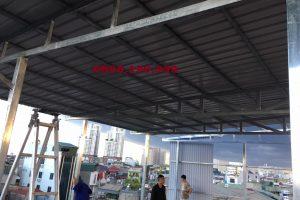 Thay mái tôn tại khu công nghiệp Sóc Sơn – Hà Nội