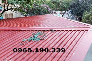Tấm lợp mái tôn tại Hà Nội và các yêu cầu chuẩn bị khi thi công