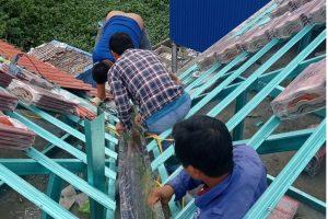 Chuyên thi công máng xối tại KCN Nam Thăng Long