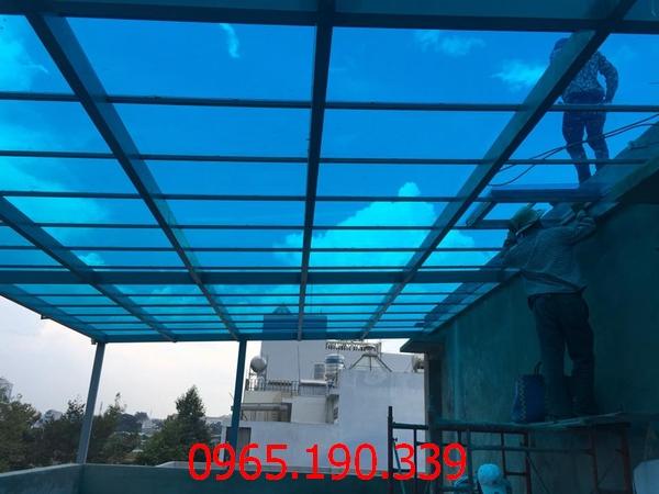 mái poly lấy sáng tại Thượng Đình Thanh Xuân Hà Nội 1