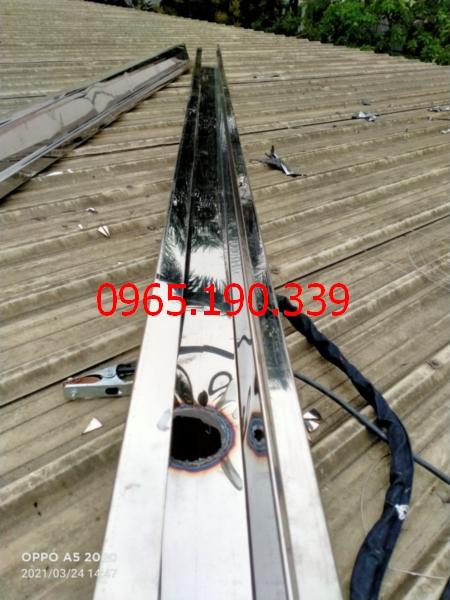 máng thu nước inox 304 tại KCN Phố Nối A